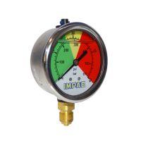 Manómetro glicerina 0-40 Bar Inox. Impac 63 mm Conex. 1/4''