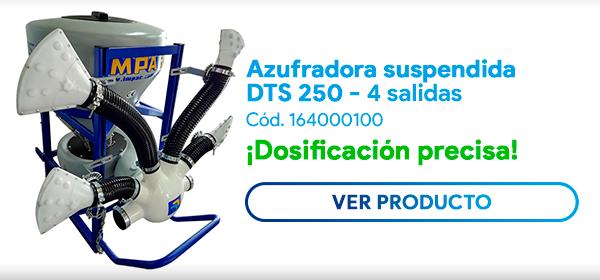 Azufradora DTS 250 L, 4 salidas